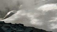 Alghe rosse sul ghiacciaio