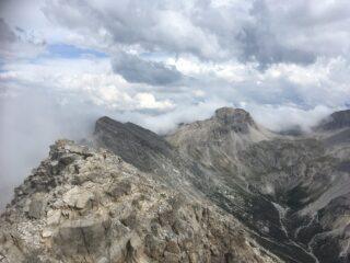 La cresta della Charrà verso la Grand Hoche.