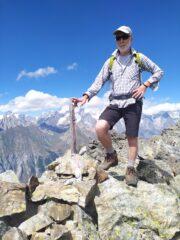 Sandro sulla cima Nord