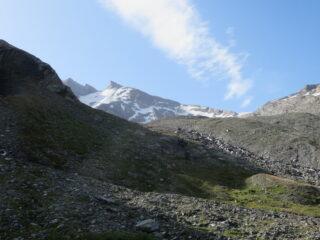 Sotto le morene dei ghiacciai dell'Invergnan e di Giasson