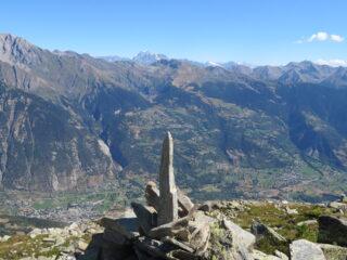 panorama sulla Valdigne, con sfondo Gran Combin e Cervino