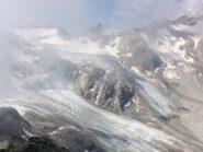 dalla vetta il ghiacciaio d'Arbola