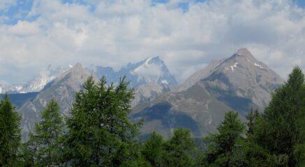 Panorama sulla Gran Rochere e Dente del Gigante