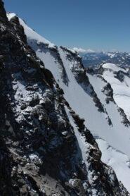 Versante Valsavarenche, con parte della Nord visibile