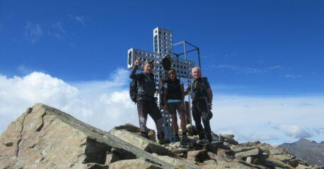 Con Graziella e Sergio in cima