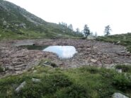 Il laghetto quasi prosciugato