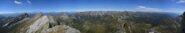 Panorama di vetta dal Rosa alla Valle Onsernone