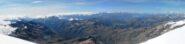 Panorama di vetta sul versante valdostano
