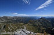 Panorama di vetta verso Est