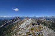 Panorama di vetta verso Ovest
