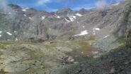 Il lago di Peraciaval superiore dal sentiero per il colle Altare