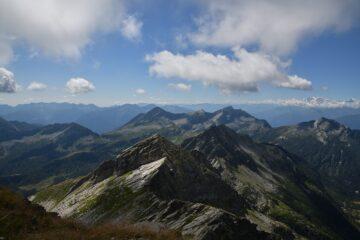 Sguardo dalla cima verso Sud
