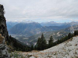 Vista dalla Bocchetta di Cazzola verso Ovest