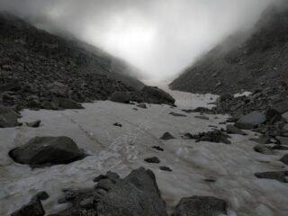 Nevaio verso il Colle dei Becchi.