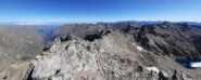 La cresta vista dalla cima del Gelas