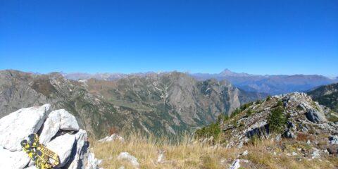Panorama dalla vetta verso il Monviso