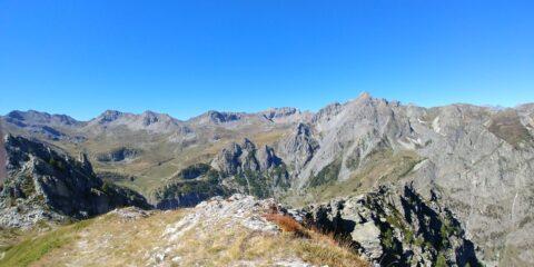 Dalla cima verso l'altopiano della Gardetta