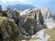 Cresta Sud-Ovest vista dalla cima