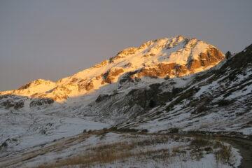 fino all'ultimo alpeggio non si pesta quasi neve poi tutto bianco