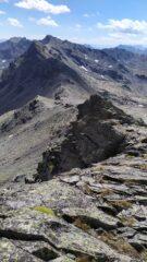 Il colle delle Muandes dalla cima