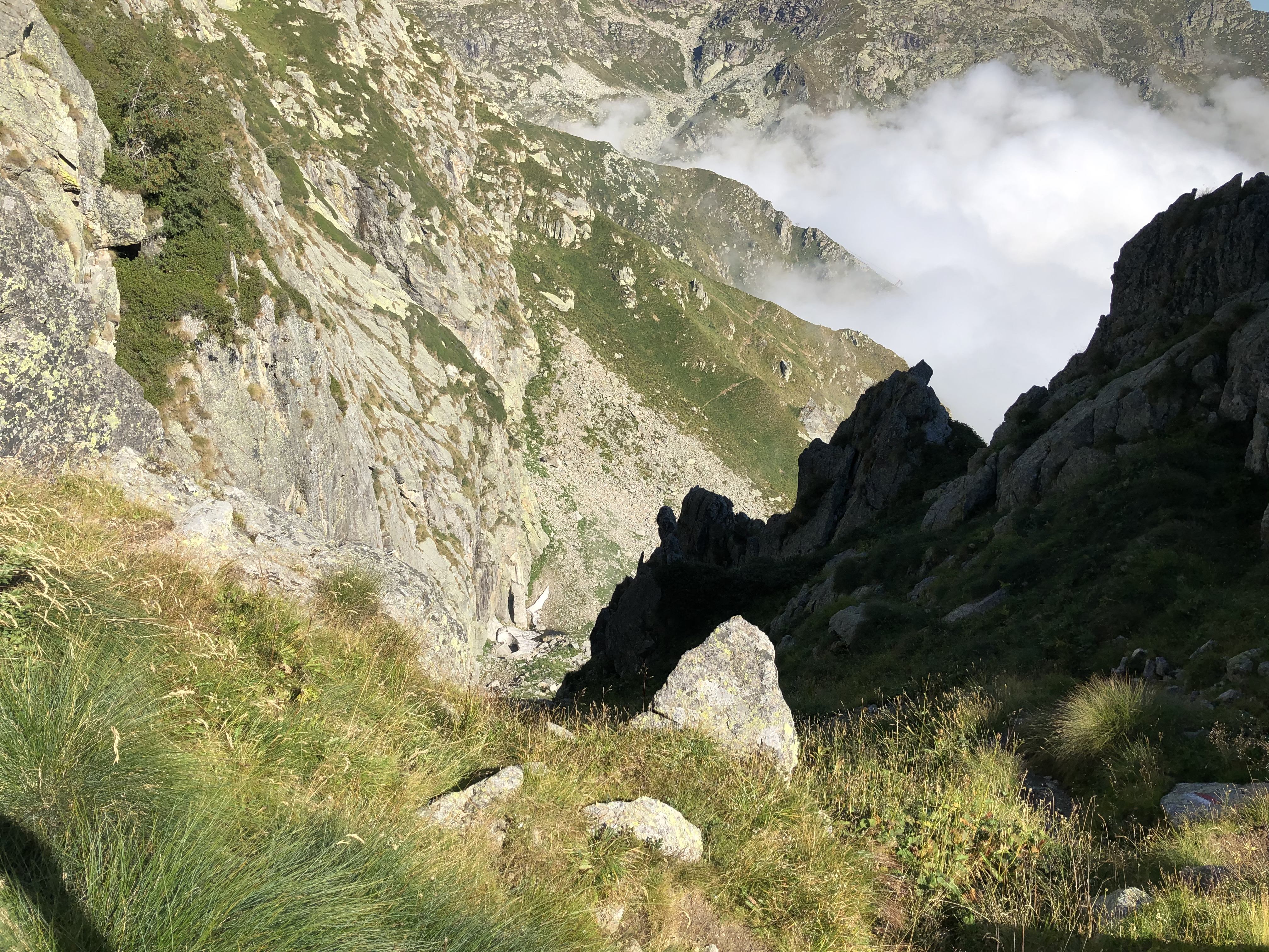 Uno sguardo dal Colle al versante appena percorso