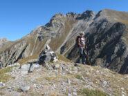 La cima, con sfondo M. Albrage e Freide