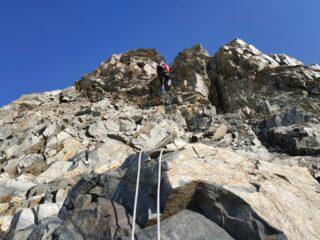 Calate dalla cresta rocciosa quota 3900 m circa.