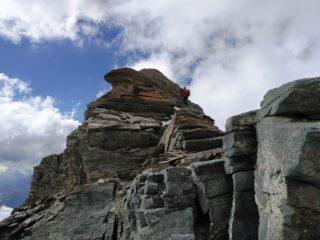 Albaron, Discesa dalla cresta