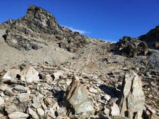 Discesa lato nord verso piani di Verra.