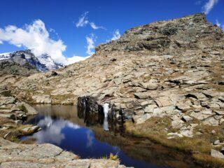 Laghi di Resy. Ai piedi del Monte Rosso.