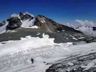 Risalita del ghiacciaio, primo tratto.