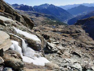 Val d'Ayas, durante la discesa al colletto.