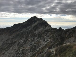 Punta Verzel vista dalla cresta Bertrando