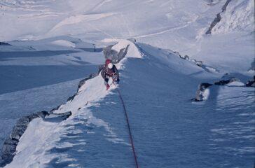 Dopo il tratto roccioso, verso l'impennata finale.