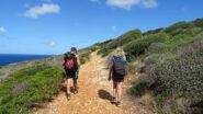 Risaliti il sentiero riprendiamo la direzione verso Capo Grosso.