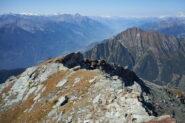 Vista da Corno Bussola verso Sud-Ovest verso la valle centrale d'Aosta