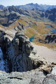 Cresta verso Punta del Lago e Colle Palasina vista da Corno Bussola