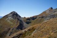 Punta Cris, Colletto Bussola e Corno Bussola visti dalla cresta presso Punta del Lago
