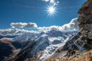 Dalla salita in cresta vista sulla val Germanasca