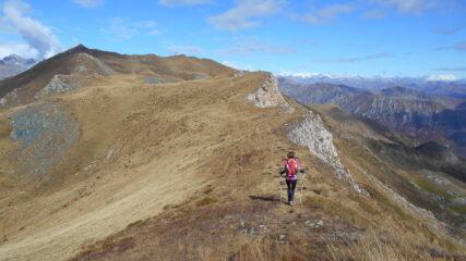 Dallo Sbaron inizia la lunga cresta verso la Punta del Grifone