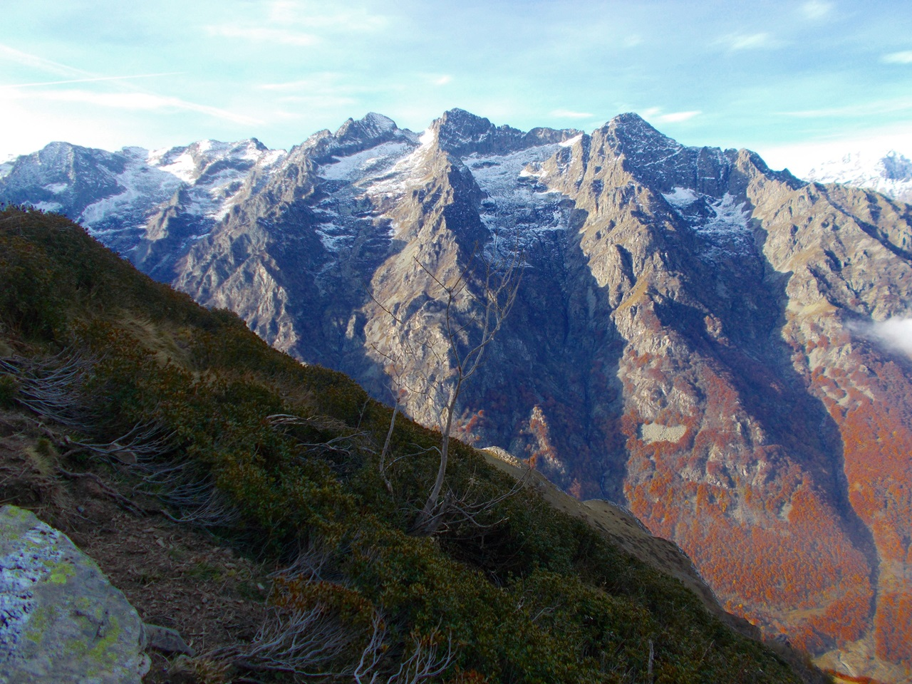le cime dell'Aiera ,pUnta Savina e M.Carbonè
