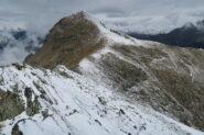 tratto attrezzato salendo al  Mont Mary dal Colle di Viou