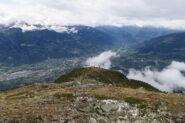 la dorsale percorsa dal sentiero del vertical del Mont Mary
