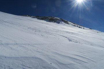 in alto la neve si scalfiva ben poco