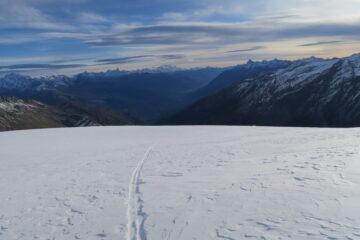 sul ghiacciaio dello Chateau Blanc