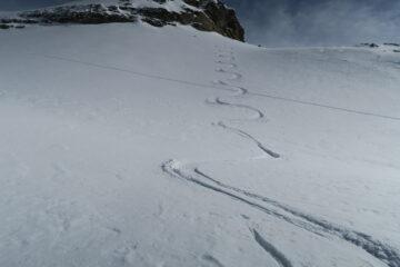 tratto di neve farinosa