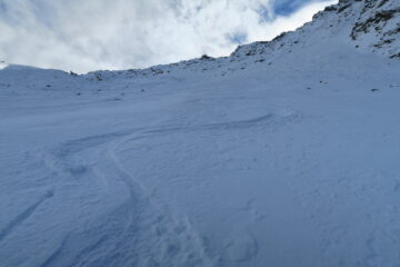 tratto con bella neve