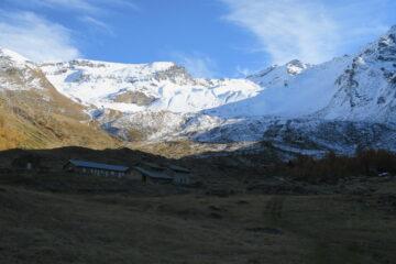condizioni del vallone da poco sotto il rifugio delle Marmotte