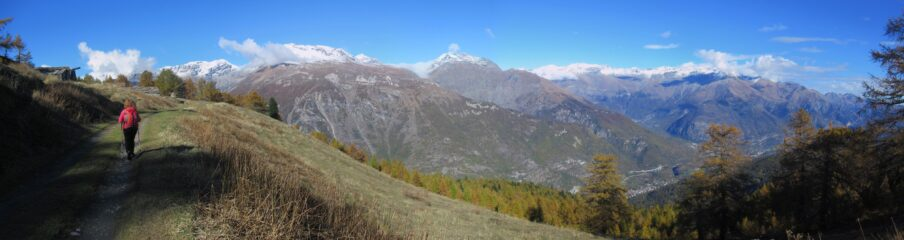 In arrivo all'Alpe d'Arguel