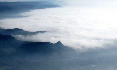 Castello di Montalto Dora tra le nebbie